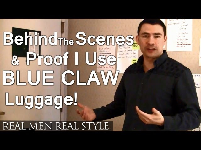 RAW Video - Behind The Scenes of My Latest Project &amp; Proof I Use Blue Claw Luggage &amp; Ribbed Tee