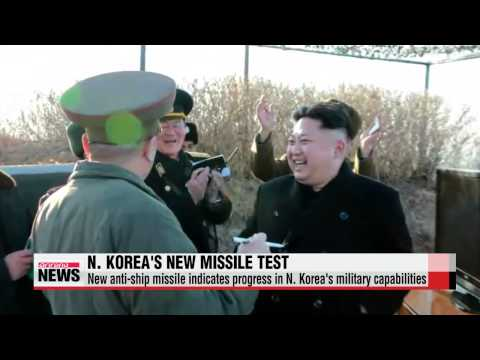 N. Korea unveils new anti-ship missile ahead of joint S. Korea-U.S. drills   북,