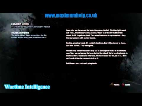 63 Wartime Intelligence Documents Audio Files Played Tomb Raider 2013 Walkthrough 1080p HD