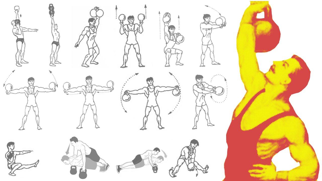 Упражнение с гирями в домашних условиях фото 484