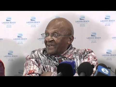 Archbishop Desmond Tutu speaks on Dalai Lama Visa.mov