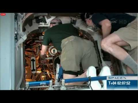 SpaceX Dragon Capsule Hatch Opening from International Space Station (ISS) HD 5/26/2012