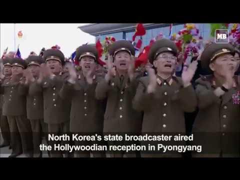 North Korean state TV airs Kim's return from Singapore summit