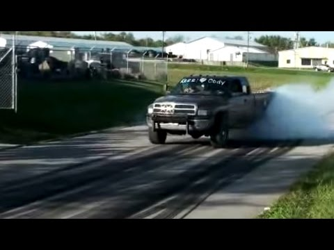 Burnout Clips - Massive Diesel Truck Burn Outs - Burn Rubber Thoroughb