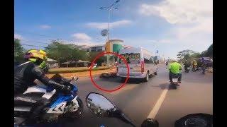 Đoàn PKL gây tai nạn được minh oan nhờ đoạn video clip