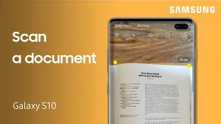 How to scan a document on the Galaxy S10 or Note10 using Scene Optimizer | Samsung US