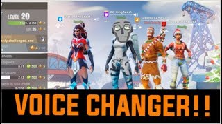 FORTNITE VOICE CHANGER TROLLING *FRIENDS GOT MAD*