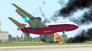 Worst Horrible Emergency Landing With Fire Engines | X-Plane 11