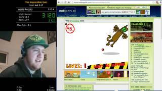 The Impossible Quiz 100% speedrun world record 4:58.7