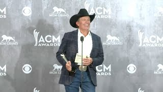 George Strait talks winning Entertainer of the Year at the Academy of Country Music Awards