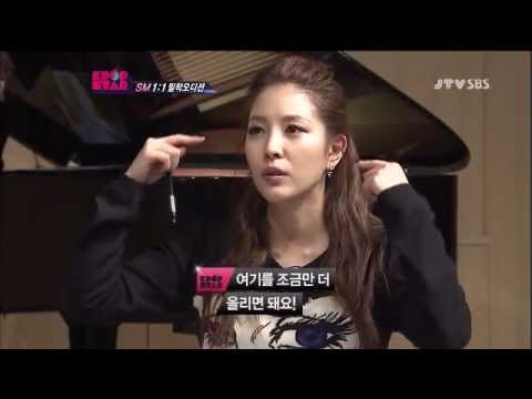 BoA teaches trainee how to sing the high notes easily