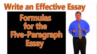 the five-paragraph essay three formulas for writing the basic academic essay