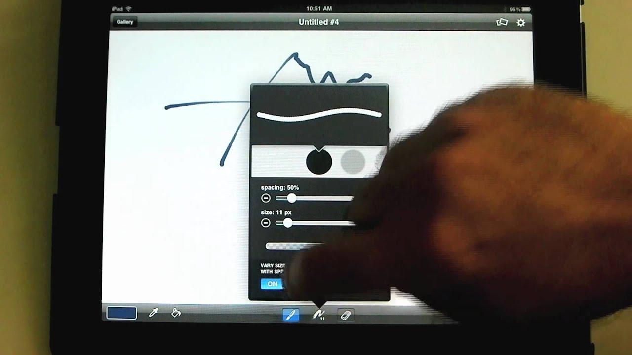 Ipad Brushes Brushes App an Ipad Mini