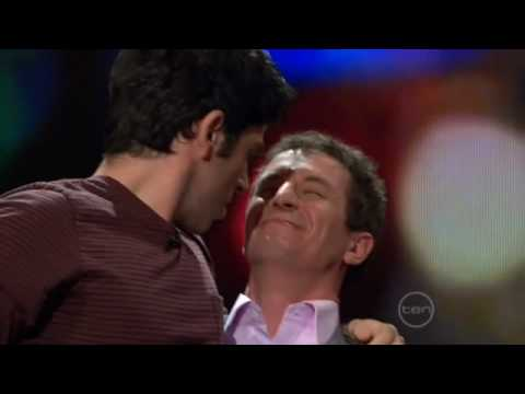 Chas Licciardello from The Chaser Kisses Rove