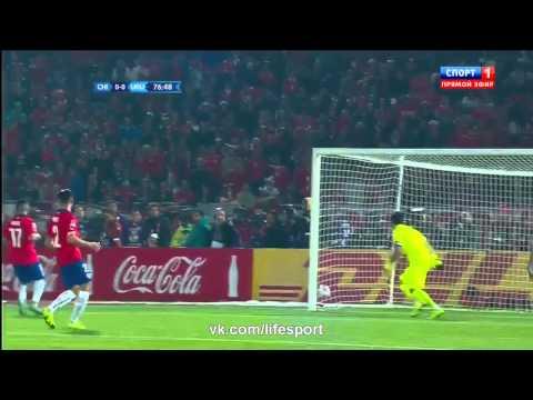 Кубок Америки! 1/4 Финала! Чили 1:0 Уругвай!
