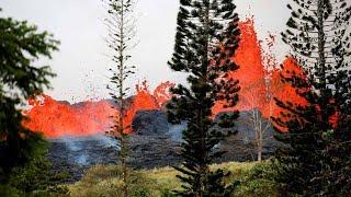Lava from Kilauea volcano explodes in Hawaii