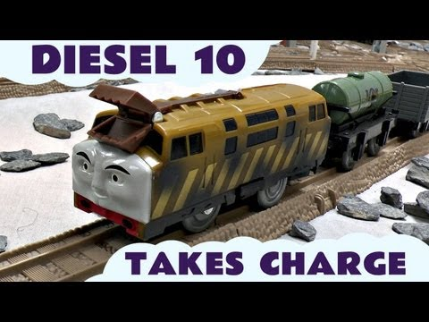 Trackmaster Thomas & Friends DIESEL 10 TAKES CHARGE Kids Toy Train Set Thomas The Tank Engine