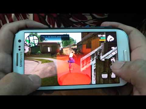 SAMSUNG GALAXY S3 GRAND THEFT AUTO SAN ANDREAS GAMEPLAY