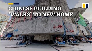 Old Chinese building 'walks' to new location to make way for Shanghai's new commercial centre