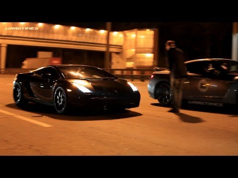 Lamborghini Gallardo Nera on Video Ugr Lamborghini Gallardo Nera Vs Nissan Gt R Ams Alpha 12 Views
