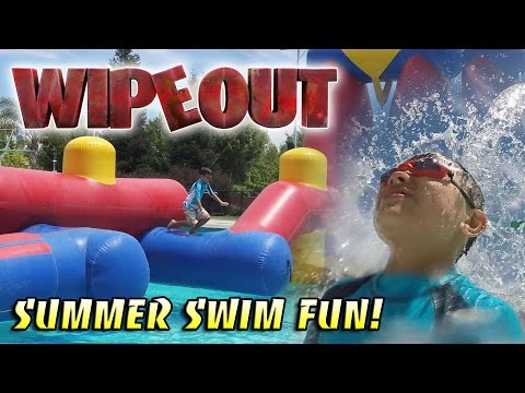 WIPEOUT! Swimming Fun In The SUN!