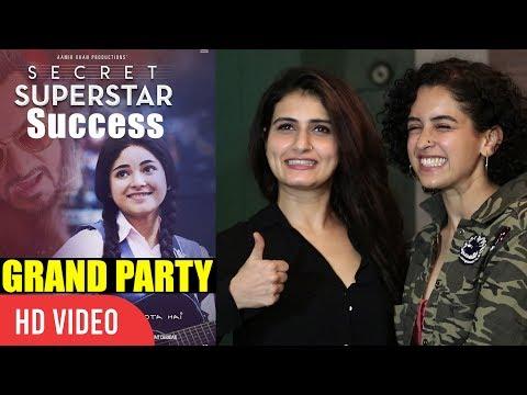 Dangal Girls Fatima Sana Shaikh And Sania Malhotra At Secret Superstar Success Grand Party thumbnail