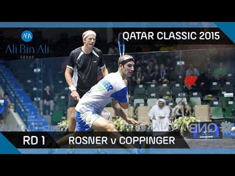 Squash: Qatar Classic 2015 - Men's Rd 1 Highlights: Rosner v Coppinger