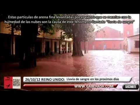 SE ANUNCIA LLUVIA DE SANGRE EN EL REINO UNIDO 26 OCTUBRE 2012