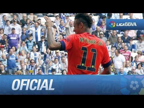 Gol de Neymar tras una gran jugada del FC Barcelona (0-1) frente al RCD Espanyol