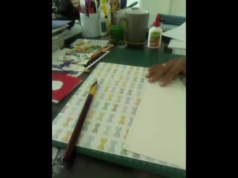 Tutorial:como forrar hojas para albumes
