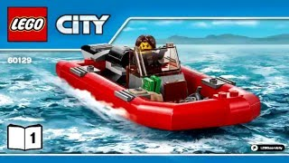 LEGO City Police 60129 Police Patrol Boat 2016 (Instruction Booklet)