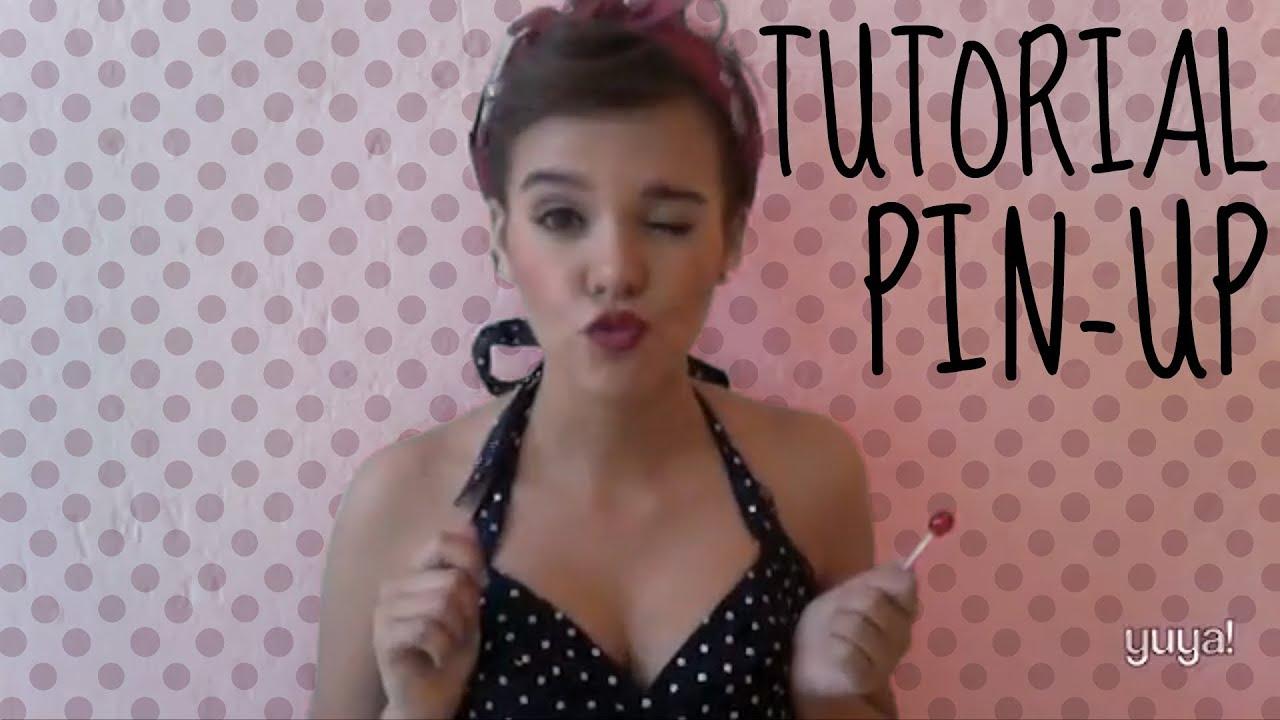Pin up maquillaje peinado youtube - Maquillage pin up ...