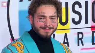 Post Malone shows off turquoise outfit at American Music Awards