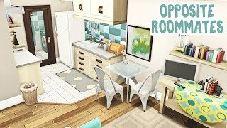 Opposite Roommates || The Sims 4 Apartment Renovation: Speed Build