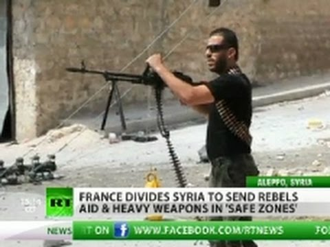 France to give heavy artillery to Syria rebels to 'smash Assad regime'