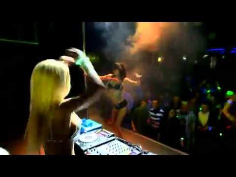 Sexy DJ Aurika in topless & DJ...