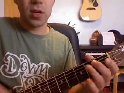 How to Play Flight of the Conchords Sello Tape on Guitar  Pencils in the Wind