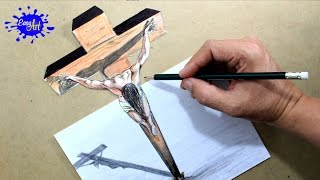 DRAWING JESUS  3D/ How to draw Jesus