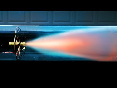 Model Rocket Engine In A Vacuum Chamber - 4K Slow Motion - will it burn?