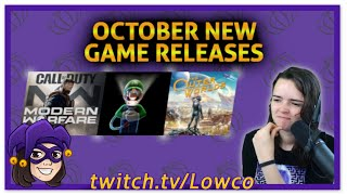 October New Game Releases
