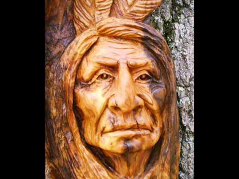 Wood spirit carving for sale