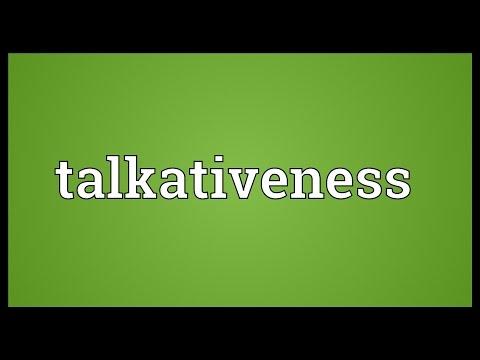 Header of talkativeness