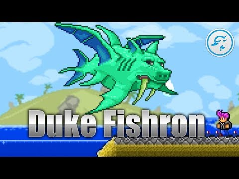 Terraria 1.2.4: Duke Fishron [New Boss]