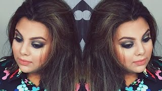 EID glam look    green & golden combo    affordable & high end