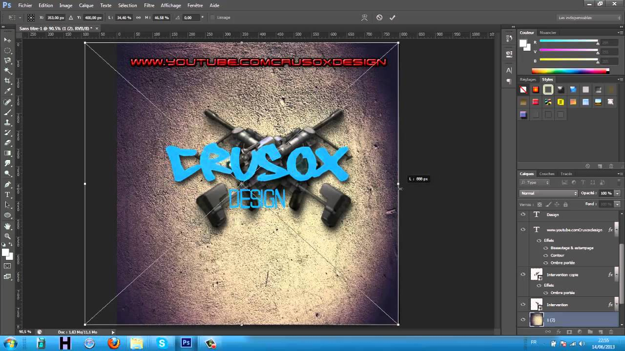 Create a Realistic Emboss/Deboss Effect in Photoshop ...