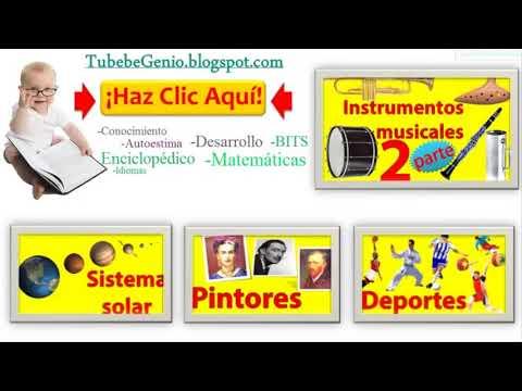 Los instrumentos musicales para niños +SONIDOS | Imágenes de instrumentos musicales y sus nombres
