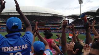 Kohli scores a 100 v Pakistan at Adelaide Oval