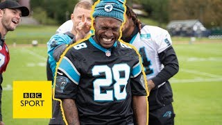 Stevo the Madman plays old school games with Carolina Panthers stars | BBC Sport