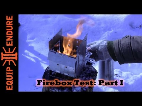 Firebox, Portable Camp Stove, Part 1, By Equip 2 Endure