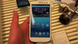 Samsung Galaxy S III live hands-on video